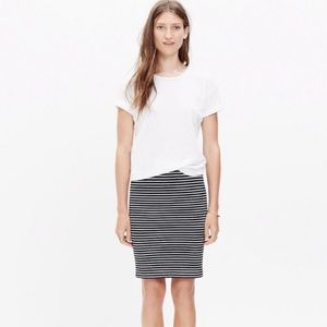 Madewell black and white striped skirt size Large